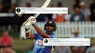 New Zealand vs Sri Lanka 2nd ODI: Thisara Perera's Record Breaking 74-ball 140 Century Leaves Twitter in Awe And Shock