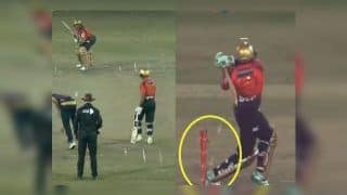 Shahid Afridi's Bizarre Hit Wicket in BPL Clash Between Chittagong Vikings And Comilla Victorians Will Leave You in Splits | WATCH
