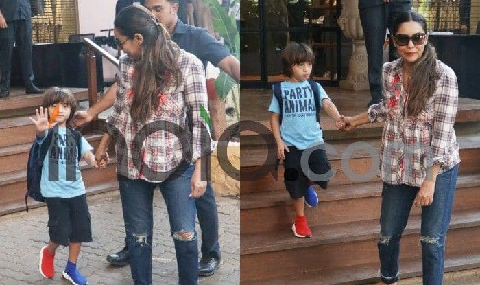 Shah Rukh Khan's Son AbRam Khan Spotted With Mother Gauri Khan in Unique Pair of Shoes, See Pictures