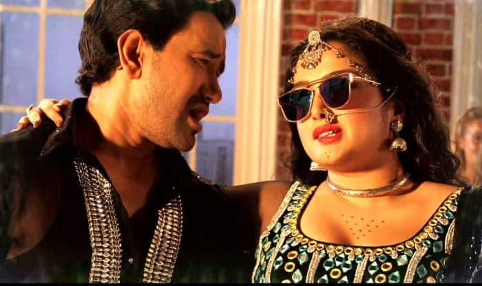 Amrapali Dubey and Dinesh Lal Yadav