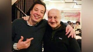 Anupam Kher Talks of Mutual Admiration as he Shares Picture of Himself With Jimmy Fallon