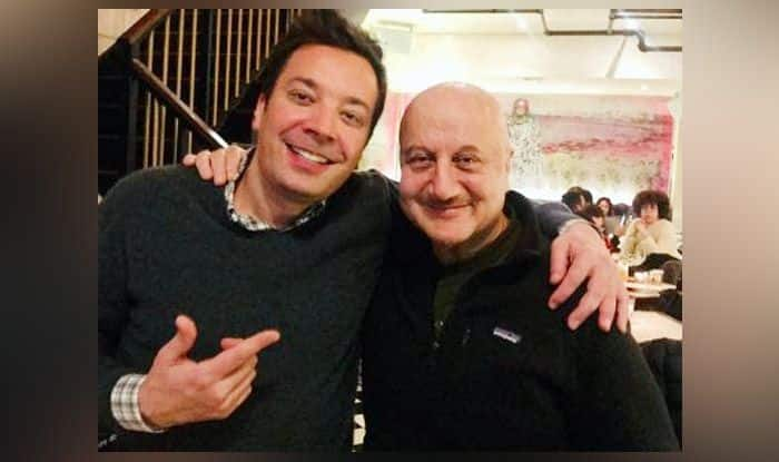 Anupam Kher and Jimmy Fallon