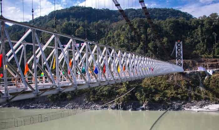 इस पहाड़ी राज्य में बना देश का सबसे लंबा सिंगल-लेन स्टील केबल सस्पेंशन पुल