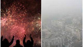 प्रदूषण से जूझ रही दिल्ली में नए साल के आगमन पर जमकर हुई आतिशबाजी, कोर्ट का आदेश बेअसर