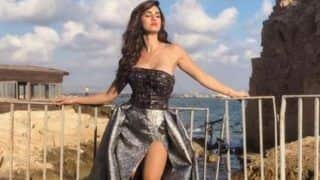 Disha Patani's Devil May Care Pose in Thigh-High Boots And Strapless Metallic Gown is Too Hot to Handle