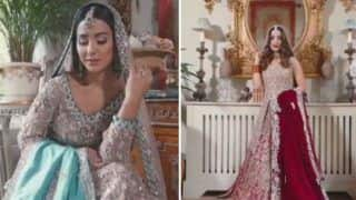 Television Hottie Hina Khan Looks Her Sexiest Best as Indian Bride in This BTS Video - Watch