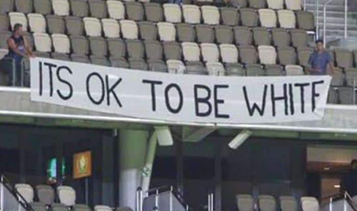 Cricket Australia Issues 'First And Final Warning' Over 'It's ok to be White' Banner During BBL Match in Perth
