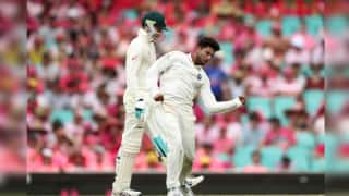 India vs Australia 4th Test Day 4 Report: Kuldeep Yadav's Fifer Headlines Start-Stop Day at Sydney Cricket Ground