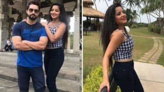 Bhojpuri Bomb And Nazar Fame Monalisa Looks Smoking Hot in Crop Top And Denim as She Strikes a Pose With Hubby Vikrant Singh Rajpoot in Sri Lanka