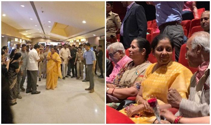 जब रक्षा मंत्री निर्मला ने पूर्व सैनिकों के साथ देखी 'उरी' जम कर गूंजे 'वंदे मातरम' के नारे
