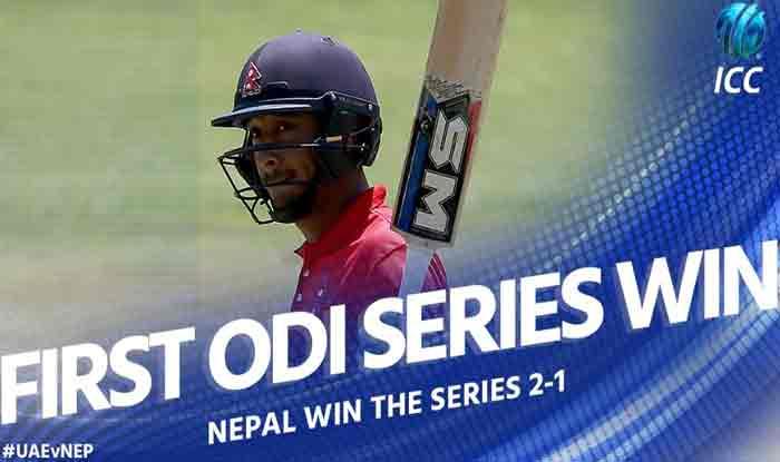 क्रिकेट में नेपाल का बड़ा कमाल, कप्तान ने जड़ा देश के लिए पहला शतक और UAE से जीती सीरीज