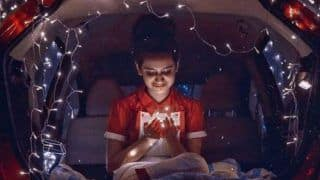 Internet Wink Queen, Priya Prakash Varrier Looks Super Hot as She Sits Inside Car With Bundle of Fairy Lights in Her Hand - See Picture