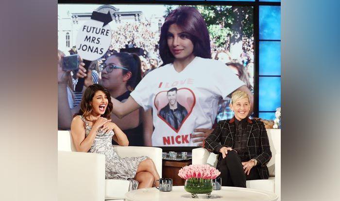 Priyanka Chopra with Ellen DeGeneres