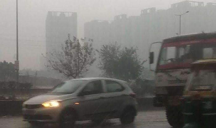 Heavy rain, hailstorm lashes Delhi-NCR.
