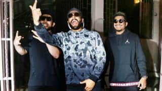Ranveer Singh Looks Every Bit The Rapper as he Poses With Original Gully Boys Naezy And Divine