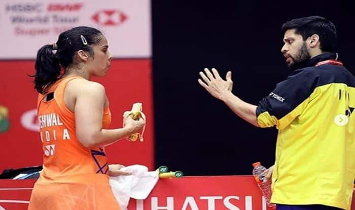 Saina Nehwal with husband at Indonesia masters 2019-picture credits-Nehwal's official Twitter