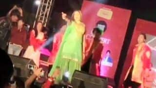 Haryanvi Hotness Sapna Choudhary Flaunts Her Sexy Thumkas on This Haryanvi Song During Stage Show - Watch Video