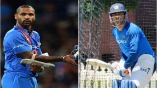 MS Dhoni, Shikhar Dhawan, Ambati Rayudu Grind Hard During Net Session Ahead of India's Three-Match ODI Series Against Australia in Sydney | SEE PICS