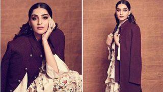 Sonam Kapoor Looks Radiant in Anamika Khanna Floral Dress Teamed up With Layered Jacket And Boots at 'Ek Ladki Ko Dekha Toh Aisa Laga' Promotions