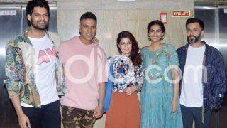 Ek Ladki Ko Dekha To Aisa Laga: Sonam Kapoor Hosts Special Screening of Her Film, Akshay Kumar, Twinkle Khanna, Anand Ahuja Pose For The Paparazzi; See Pictures