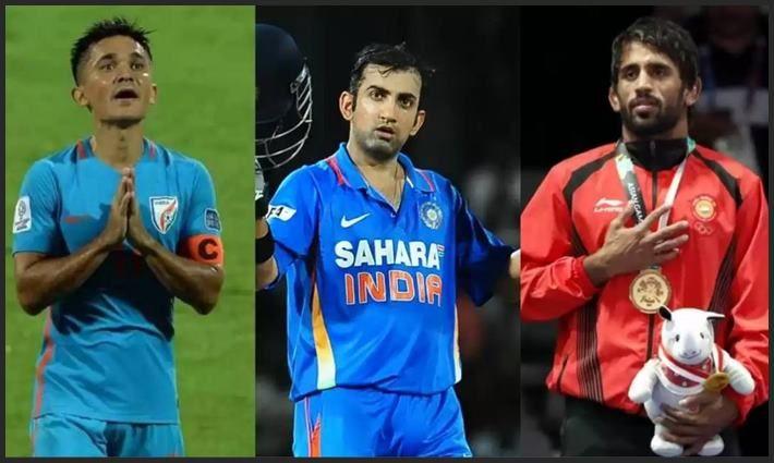 Sunil Chhetri, Gautam Gambhir, Bajrang Punia Win PadmaShree 2019-Picture -Twitter