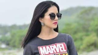 Sunny Leone Looks Sexy AF in Marvel Inspired Jumpsuit And Hot Pink Lips in Her Latest Instagram Picture