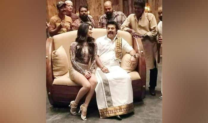 Sunny Leone with Mammootty