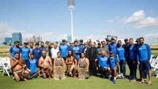 India vs New Zealand 2nd ODI: Rohit Sharma, Ravi Shastri-Led Team India Given Traditional Māori Welcome at Tauranga's Bay Oval | SEE PICS
