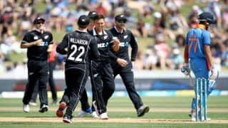 4th ODI Match Report: Trent Boult's Fifer Hands New Zealand Consolation Win Over Rohit Sharma-Led India; Visitors Lead Series 3-1