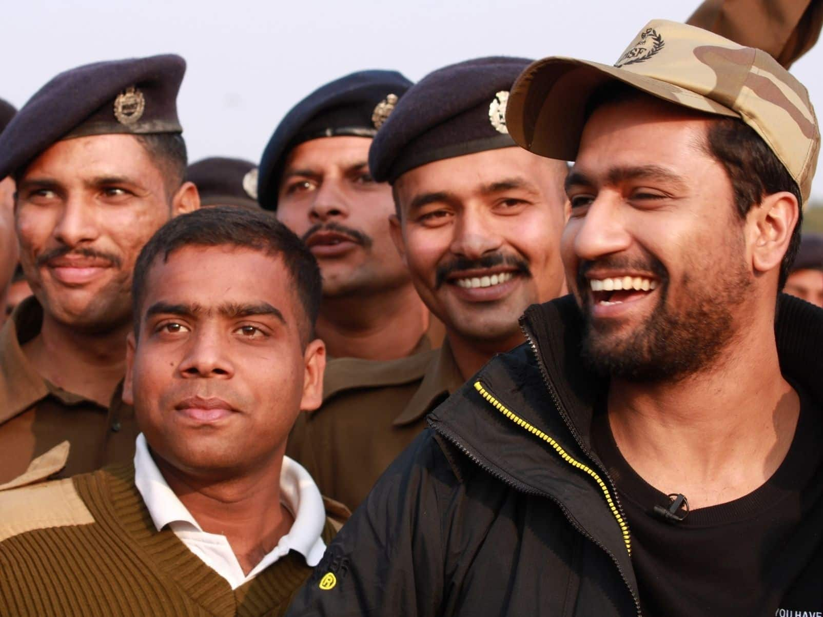Vicky Kaushal with CISF personnel