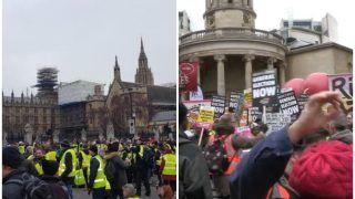 #YellowVest प्रदर्शन लगातार जारी, मैक्रों की नीतियों से नाखुश हजारों लोग हुए शामिल, सैकड़ों गिरफ्तार