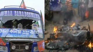 पश्चिम बंगाल में अमित शाह की रैली के वाहनों में तोड़फोड़-आगजनी, BJP-TMC कार्यकर्ताओं के बीच झड़प