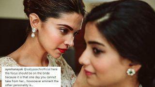 Sabyasachi Mukherjee Trolled For Having Deepika Padukone in Focus Instead of Bride on Her Wedding in His Posts-See Pics