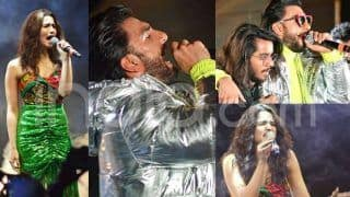 Gully Boy Music Launch Concert Pics: Ranveer Singh-Alia Bhatt Set The Stage on Fire Crooning to Energetic Songs in Green Outfits