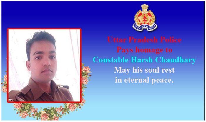 यूपी में एनकाउंटरः सिपाही हर्ष चौधरी शहीद, हिस्ट्रीशीटर बदमाश भी ढेर