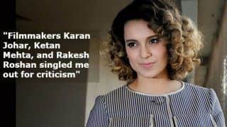 Kangana Ranaut-Hrithik Roshan Legal Battle: Manikarnika Actress Questions Rakesh Roshan, Karan Johar And Aditya Pancholi's Stance
