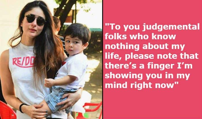 Kareena Kapoor Shows Middle 'Finger' to Trolls Questioning Her Love For Taimur Ali Khan in Viral Pics