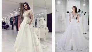 Mouni Roy Looks Drop-Dead Gorgeous in White Wedding Gowns as She Poses For The Camera, See Pictures