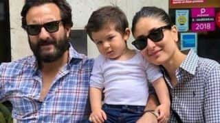 Taimur Ali Khan Gets Playful With Daddy Saif Ali Khan on The Sets of Jawaani Jaaneman in London, Watch