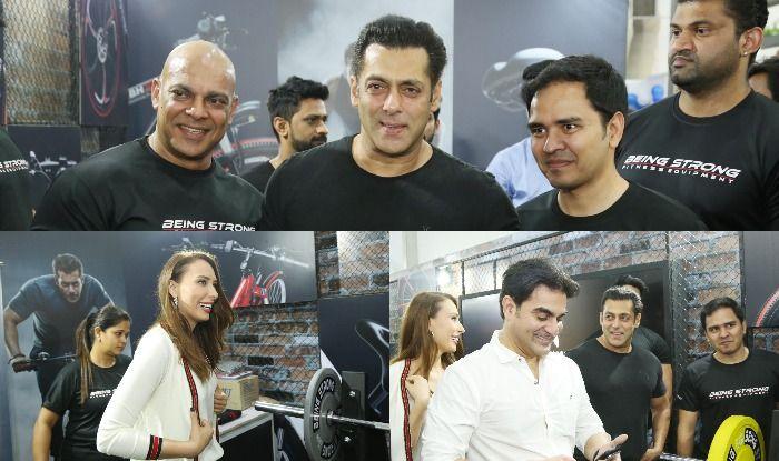 Salman Khan, Lulia Vantur, Arbaaz Khan at Mumbai Marathon Expo