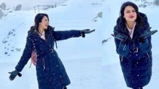 Yeh Hain Mohabbatein Fame Divyanka Tripathi Waltz in Happiness on Snow Clad Mountains And This Pic is Proof, See Post