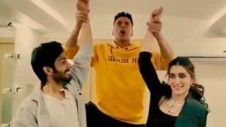 Akshay Kumar Grooves Along With Luka Chuppi Stars Kartik Aaryan-Kriti Sanon on 'Poster Lagwa Do', Song Releases Tomorrow