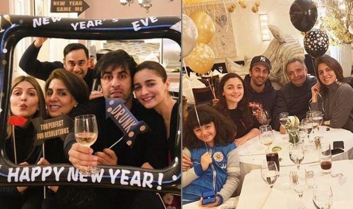 Alia Bhatt Celebrates New Year With Ranbir Kapoor, Rishi Kapoor And Neetu Kapoor, See Pics
