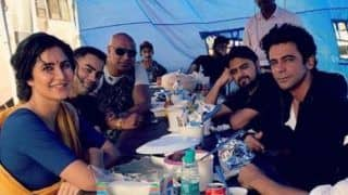 Bharat: Katrina Kaif, Sunil Grover And Crew Members Take a Lunch Break in Between Shooting, See Pictures