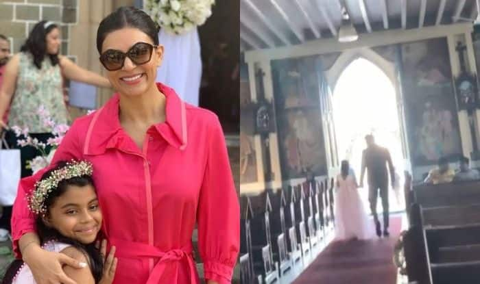 Sushmita Sen Shares an Adorable Video of Her Daughter Alisah Practicing Flower Girl Walk With Rohman Shawl