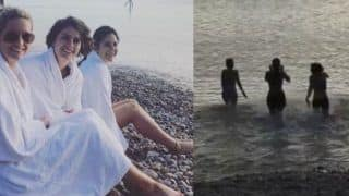 Katrina Kaif Takes a Dip in Zero Degree English Channel With Her Sisters, Shares Video on Instagram; Watch