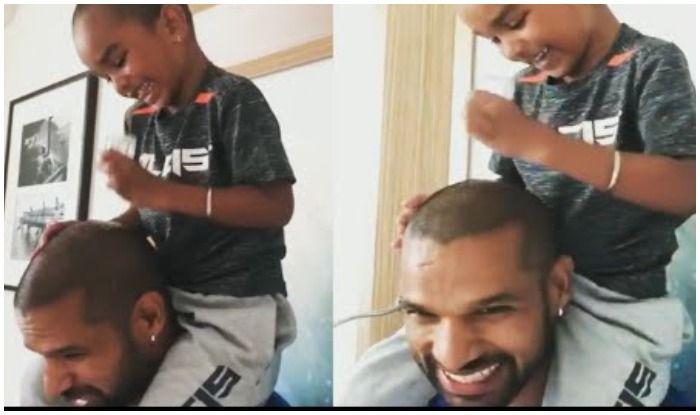 क्रिकेटर शिखर धवन के बेटे ने ढूंढ़ा 'गंजेपन' का घरेलू इलाज