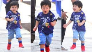 Taimur Ali Khan Cannot Keep Calm as he Accompanies Daddy Saif Ali Khan to The Sets of Sacred Games 2, See Pictures