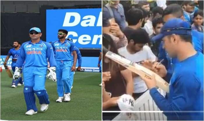 India vs Australia 2018-19 1st ODI: MS Dhoni Fever Grips Sydney, Former India Captain Fulfils Fans Wishes With Beautiful Gesture | WATCH VIDEO