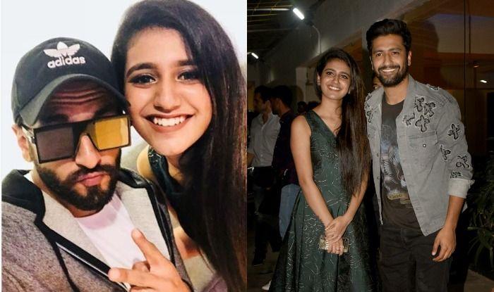 Priya Prakash Varrier Poses With Ranveer Singh, Recreates Her Iconic Wink With Vicky Kaushal